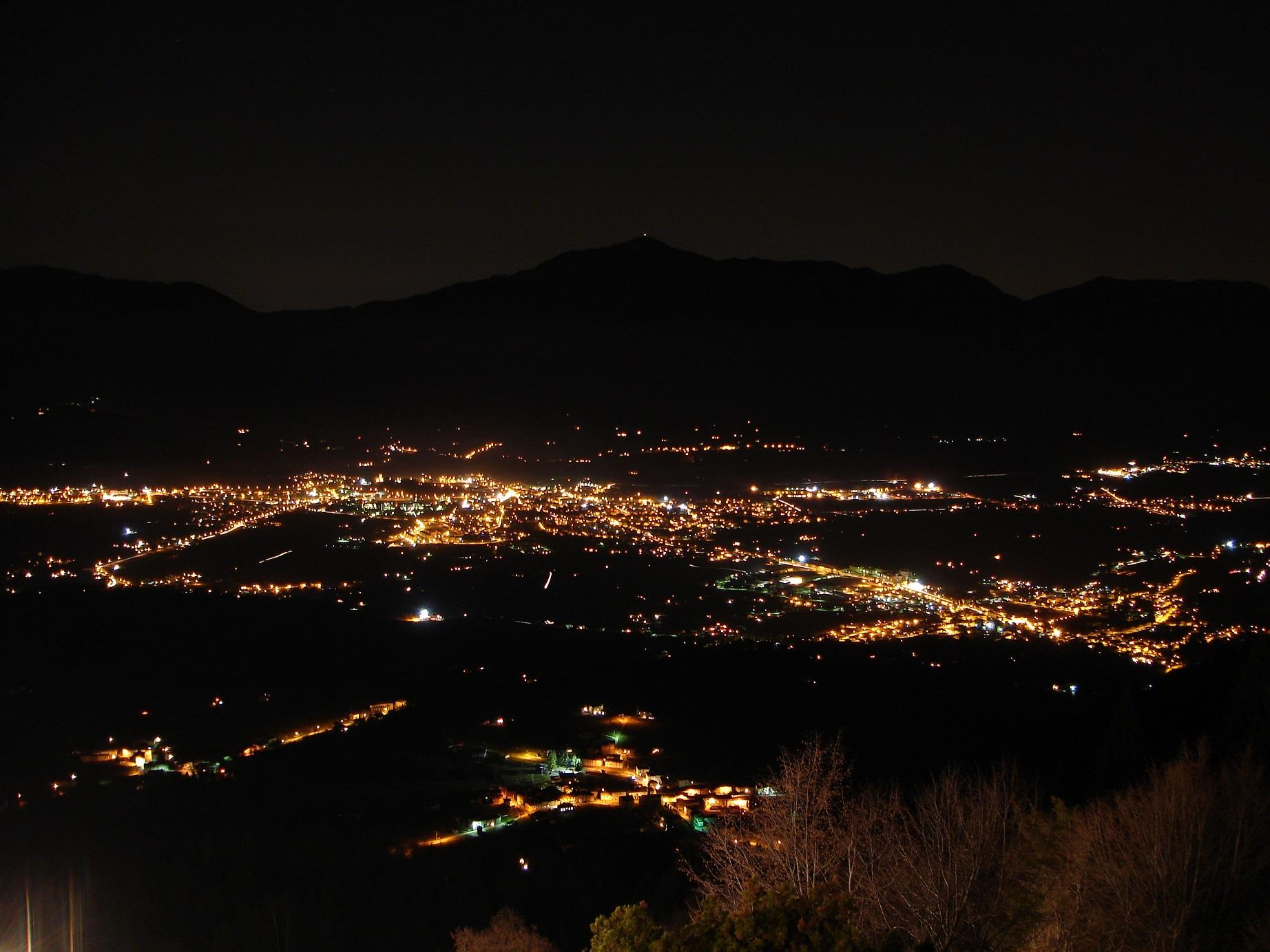 Vallata di Feltre in notturna